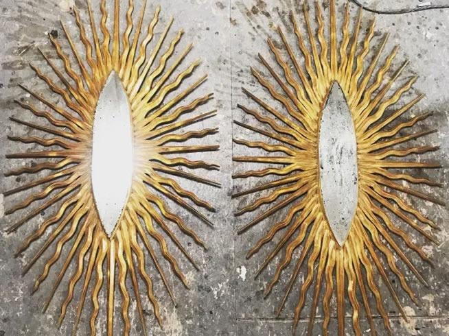 Sun-Burst mirror